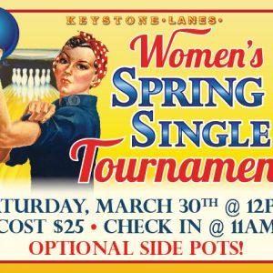 Women's Spring Singles Tournament ad