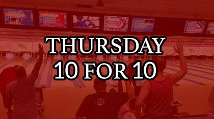 Thursday 10 for 10 logo